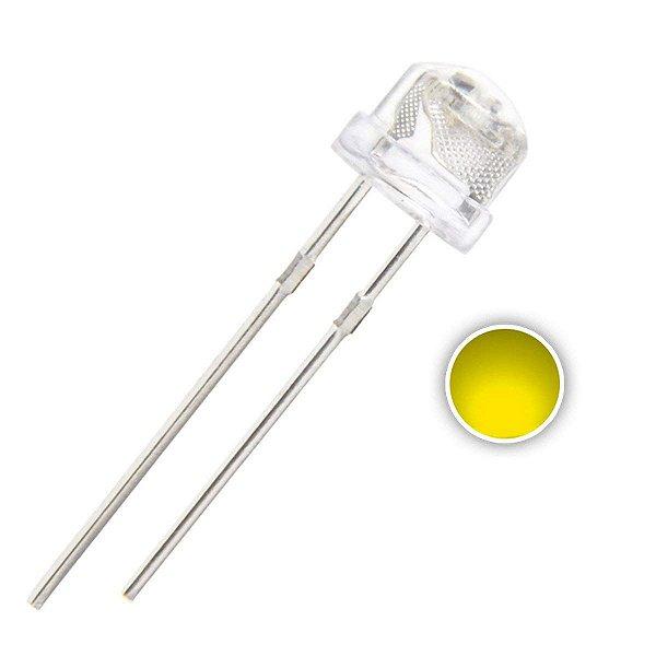 LED 5mm Amarelo Âmbar Alto Brilho 585-590nm Straw K0742