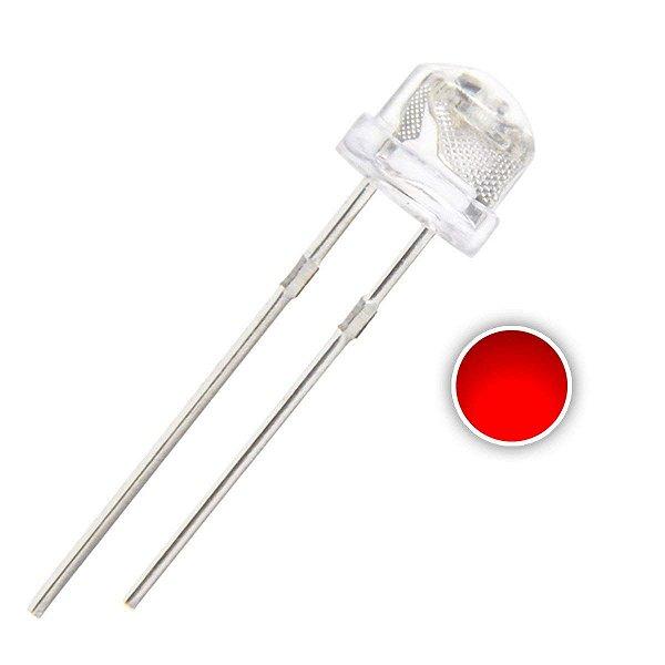 LED 5mm Vermelho Alto Brilho 620-630nm Straw K0739