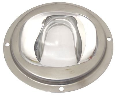Lente 60-120 Graus em Vidro Para LED de 10W a 200W 92mm com Suporte Inox K1165