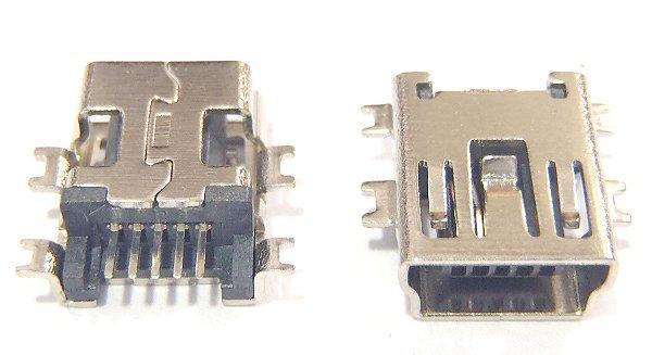 Conector Mini USB 5 Pinos Tipo Chato K1457