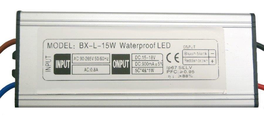 Fonte Driver para 1 LED 15W ou 5 LEDs de 3W Bivolt IP67 K1362
