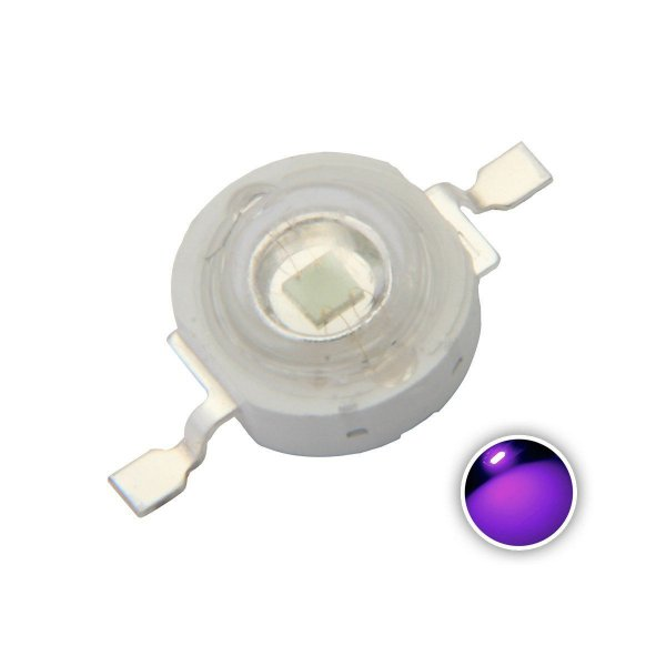 LED 1W Ultra-Violeta UV 390-395nm K1347