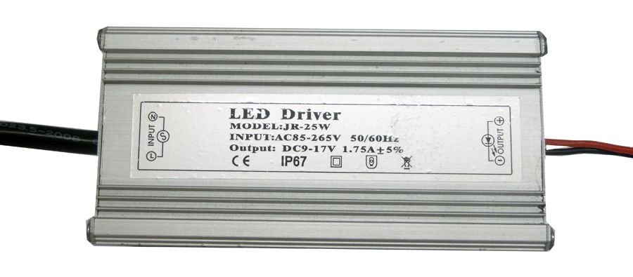 Fonte Driver para 1 LED de 25W Bivolt IP67 K1339