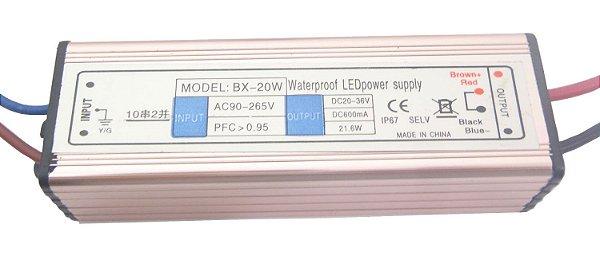 Fonte Driver Para 7 A 10 LEDs De 3W Ou 1 LED De 20W Bivolt IP67 K1524
