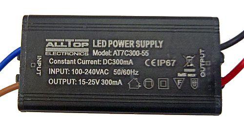 Fonte Driver  para 5 a 7 LEDs de 1W Bivolt IP67 K1739