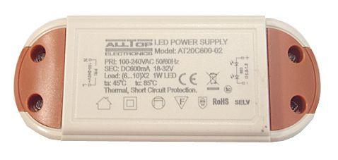 Fonte Driver Para 6 A 10 LEDs De 2W Ou 3W Bivolt K1733