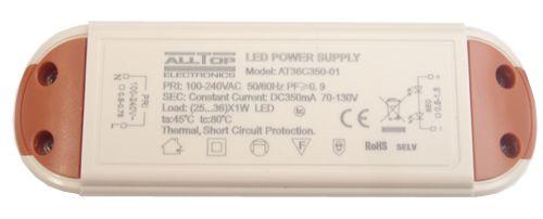Fonte Driver para 26 a 36 LEDs de 1W Bivolt K1730
