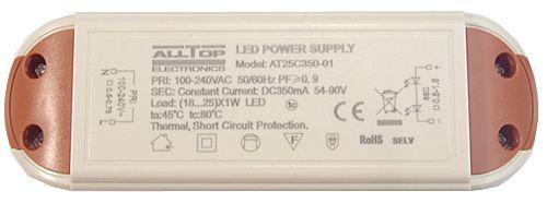 Fonte Driver para 18 a 25 LEDs de 1w Bivolt K1729