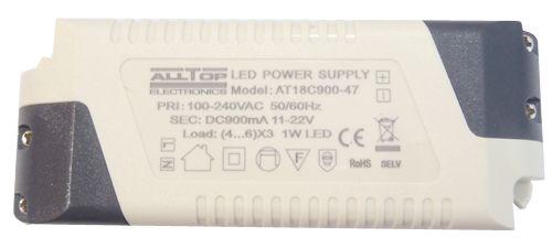 Fonte Driver para 4 a 6 LEDs de 3W Bivolt K1728