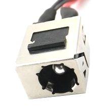 Conector Dc Jack com cabo para CCE Semp Toshiba STI Philco Positivo Aureum K1770