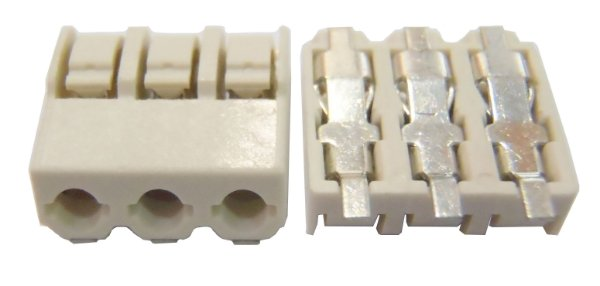 Conector SCREWLESS BLOCK 3 PINOS 4mm SMD K1921