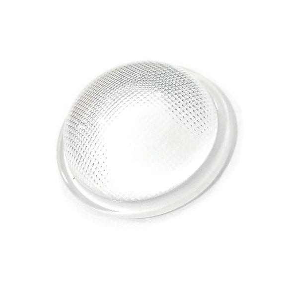 Lente 120 Graus em Vidro Para LEDs de 10W a 200W 66mm com Suporte Inox K2068