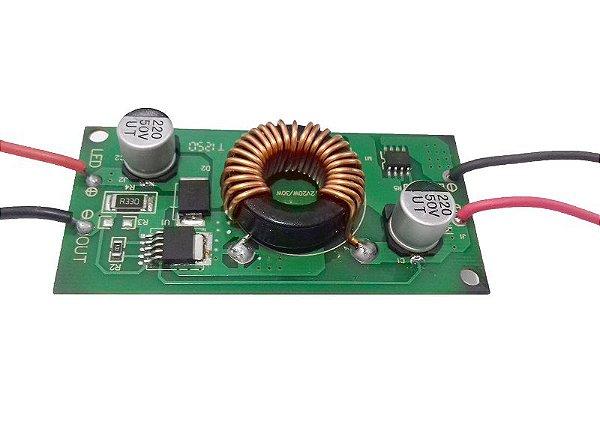 Fonte Driver para 6 A 12 LEDs de 2W ou 3W 12-24vdc K2010