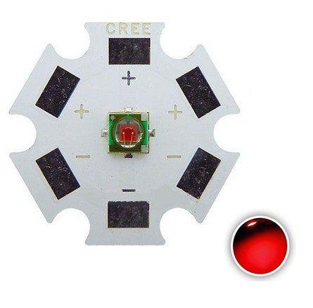 Power LED Cree XPE 3W Vermelho Photo Deep Red 660nm K2142