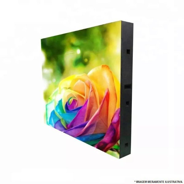 PAINEL DE LED P5 RGB EXTERNO 192X96cm SMD - 02 GABINETES DE 96CM EM AÇO COMPLETO K2611