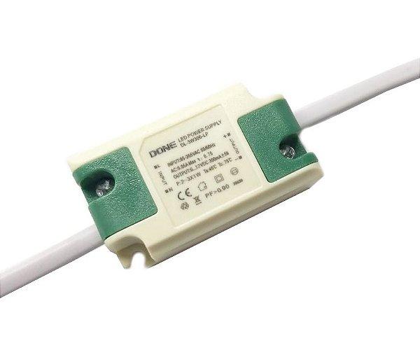 Fonte Driver Para 2 a 3 LEDs de 1W Bivolt K2643