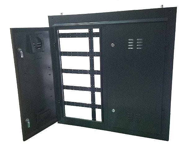 Gabinete em aço 0,96X0,96cm Para Painel LED Externo (Outdoor) K2693 VIA TRANSPORTADORA FOB