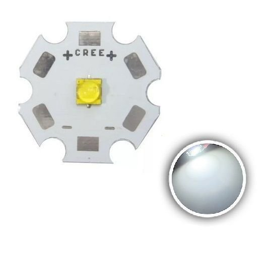Power LED Cree XTE 5W branco 5700K 122lm/W (R3) em base estrela 20mm K2721