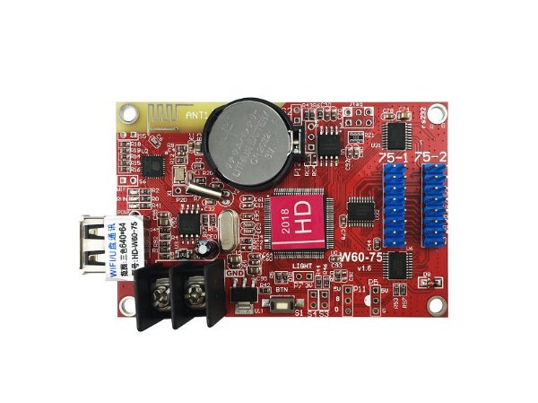 Placa Controladora RGB Wi-fi HD-W60-75 2xHUB75 antena onboard para painel LED Huidu K2733