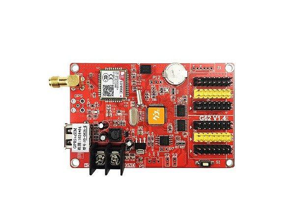 Placa Controladora HD-G62A GPRS 2xHUB8 + 4xHUB12 para painel LED K2732