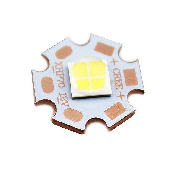 Power LED Cree XHP70 Branco Neutro 4000K (BIN 5A-N2-D0H) 12V K2388