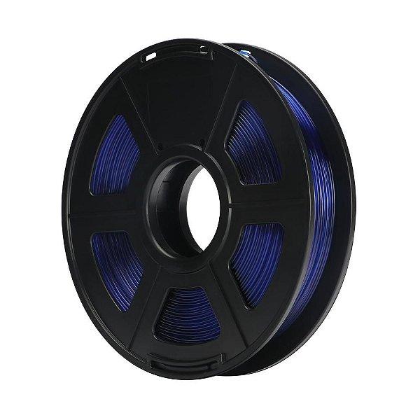 Filamento Plástico PETG 1.75mm Azul Translúcido 0.5KG - 3D0080
