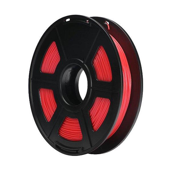Filamento Plástico TPU 1.75mm Vermelho 0.5KG - 3D0061