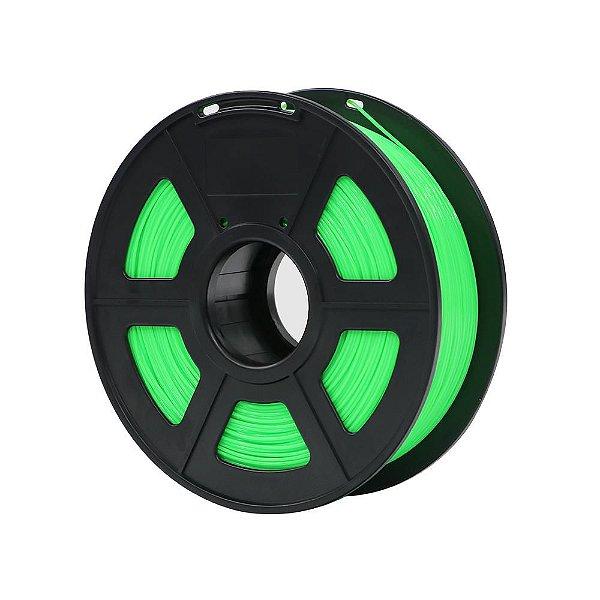 Filamento Plástico ABS 1.75mm Verde Fluorescente 1KG - 3D0056