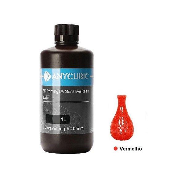 Resina UV 3D Convencional Vermelha 1L - 3D0033