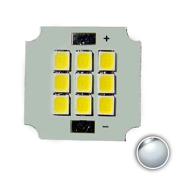 Módulo LED 10W 20x20mm Branco Frio 6000K K2802