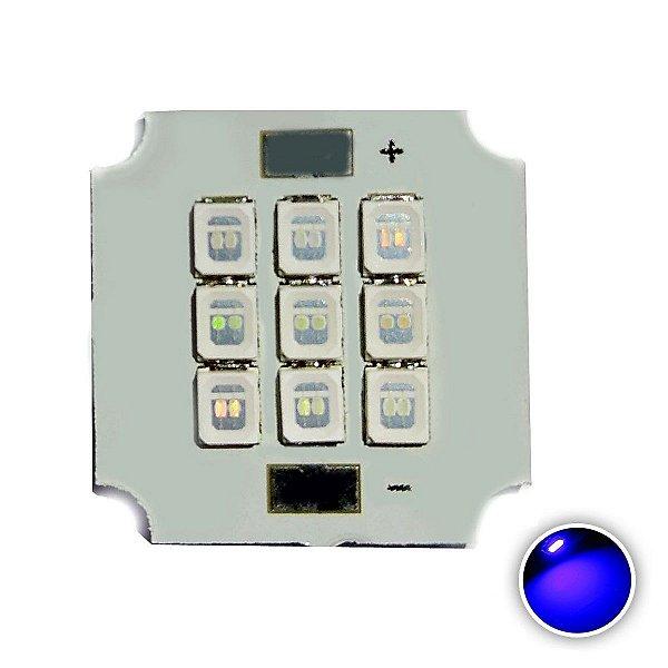 Módulo LED 10W 20x20mm Azul 455-460nm K2809