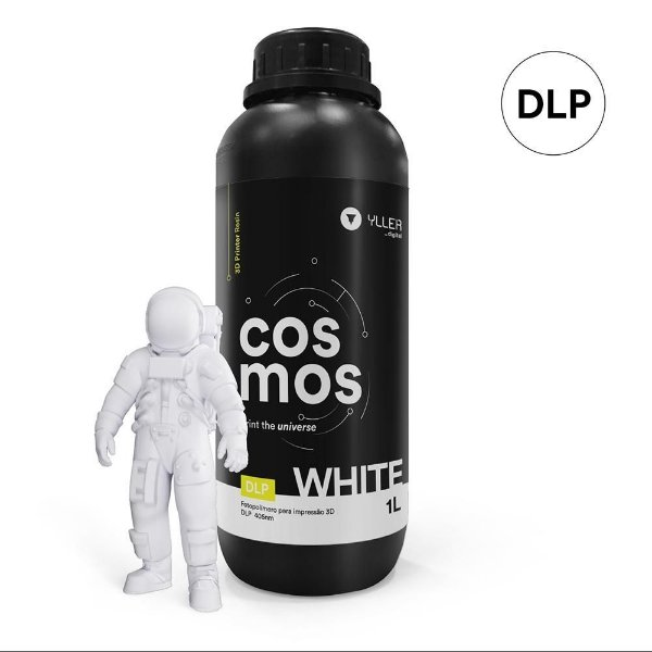Resina Impressora 3D Cosmos White Branca DLP  Yller 1Litro