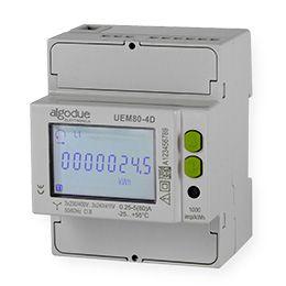 Contador de energia trifásico 80A com comunicação embutida UEM80-4D R