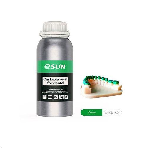 Resina Para Impressora 3D Calcinável para Modelos Dentais 500g Verde E0041