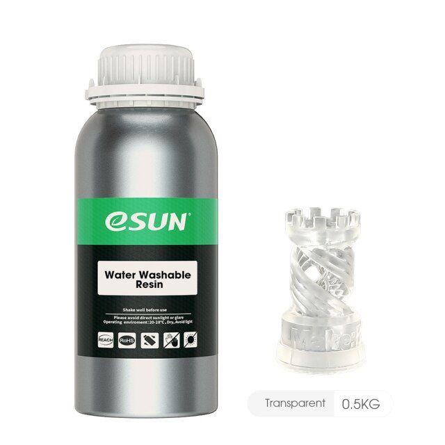 Resina para Impressora 3D Lavável em água 500g Transparente E0037