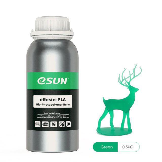 Resina Para Impressora 3D PLA Bio based Eco 500g Verde E0029