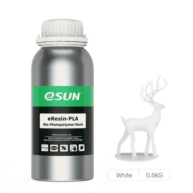 Resina para Impressora 3D PLA Bio based Eco 500g Branca E0028