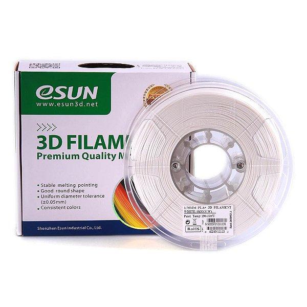 Filamento Impressora 3D PLA+ 1.75mm 1kg Premium Branco Esun E0002