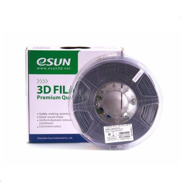 Filamento PLA+ 1.75mm 1kg Premium Cinza E0006