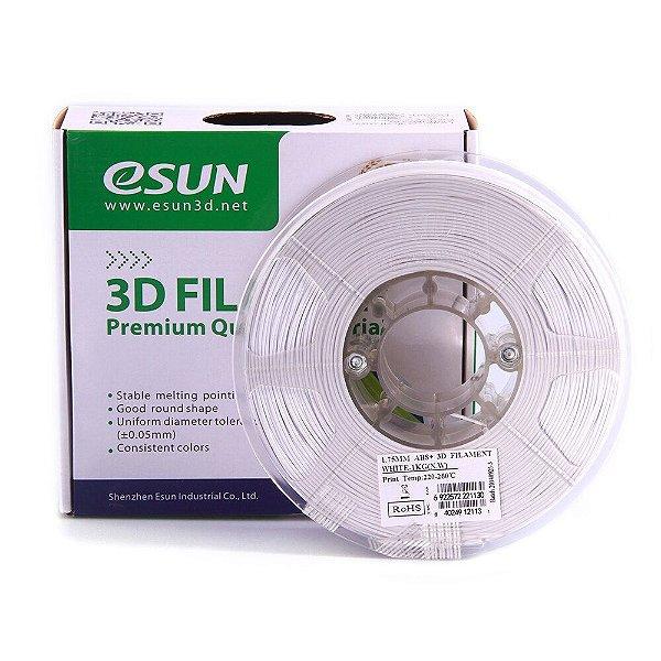 Filamento Impressora 3D ABS+ 1.75mm 1kg Premium Branco Esun E0009
