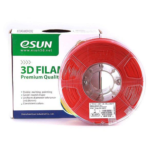 Filamento ABS+ 1.75mm 1kg Premium Vermelho E0011