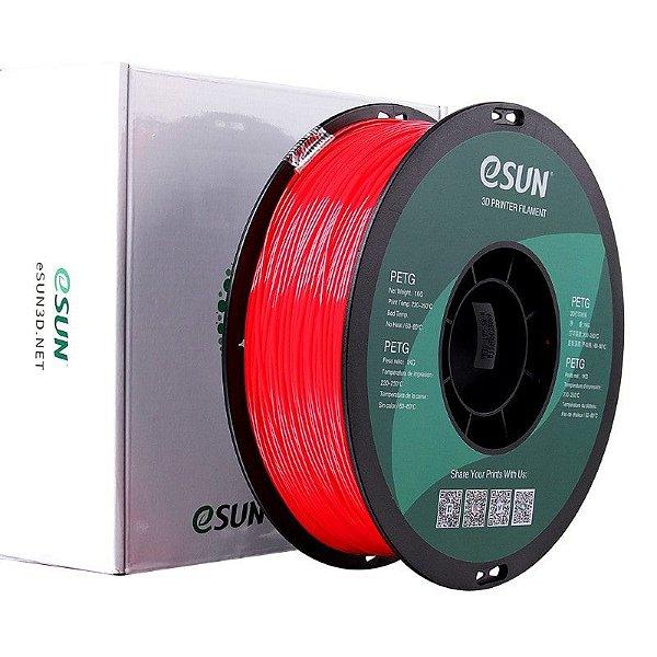 Filamento PETG 1.75mm 1kg Vermelho Sólido E0017