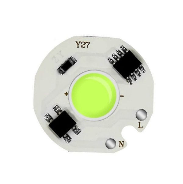 Modulo LED COB 12W Verde Ciano 27mm 220V 230V K2844