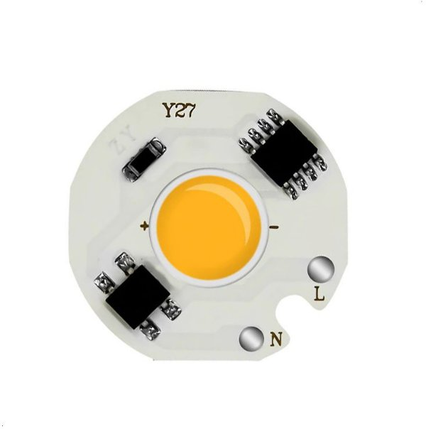 Modulo LED COB 12W Amarelo Âmbar 27mm 220VAC-230VAC K2842
