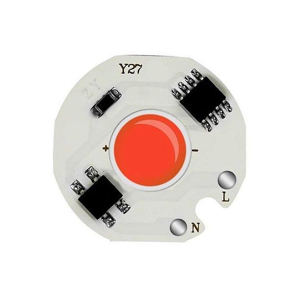 Modulo LED COB 12W Vermelho 27mm 220V 230V K2840