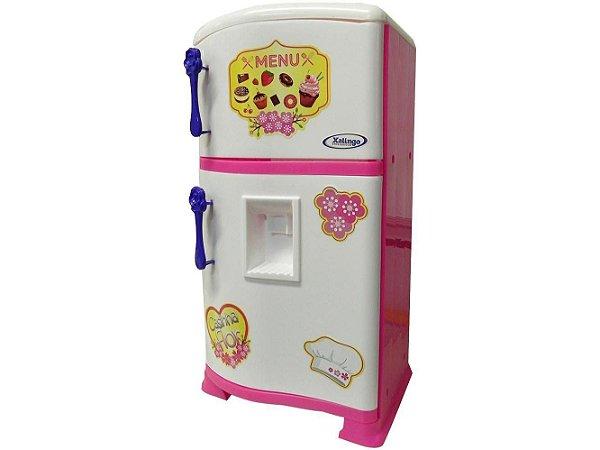 Geladeira de Brinquedo Retrô Pop Casa Flor Estilo