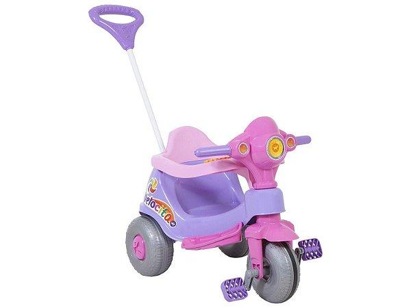 Triciclo Infantil Calesita com Empurrador Velocita
