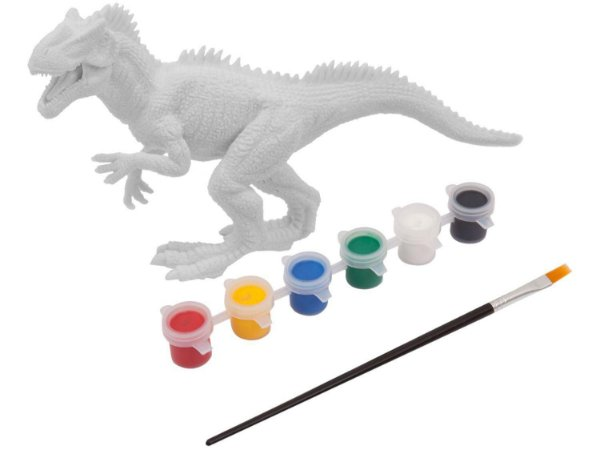 Dinossauro de Brinquedo Dino para Colorir com Acessórios