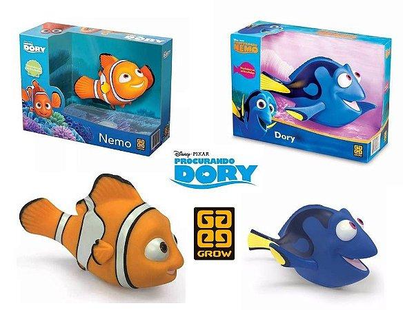 Super KIT Bonecos Vinil Dory e Boneco Nemo