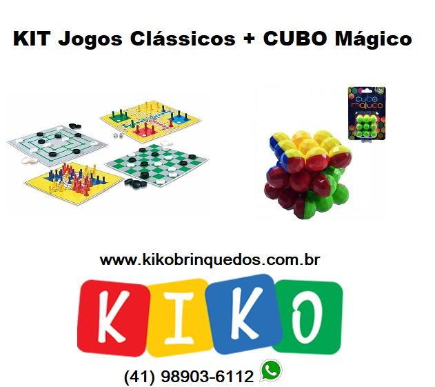Super KIT Jogos Clássicos + Cubo Mágico